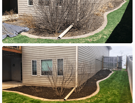 Trimmed bushes and new mulch