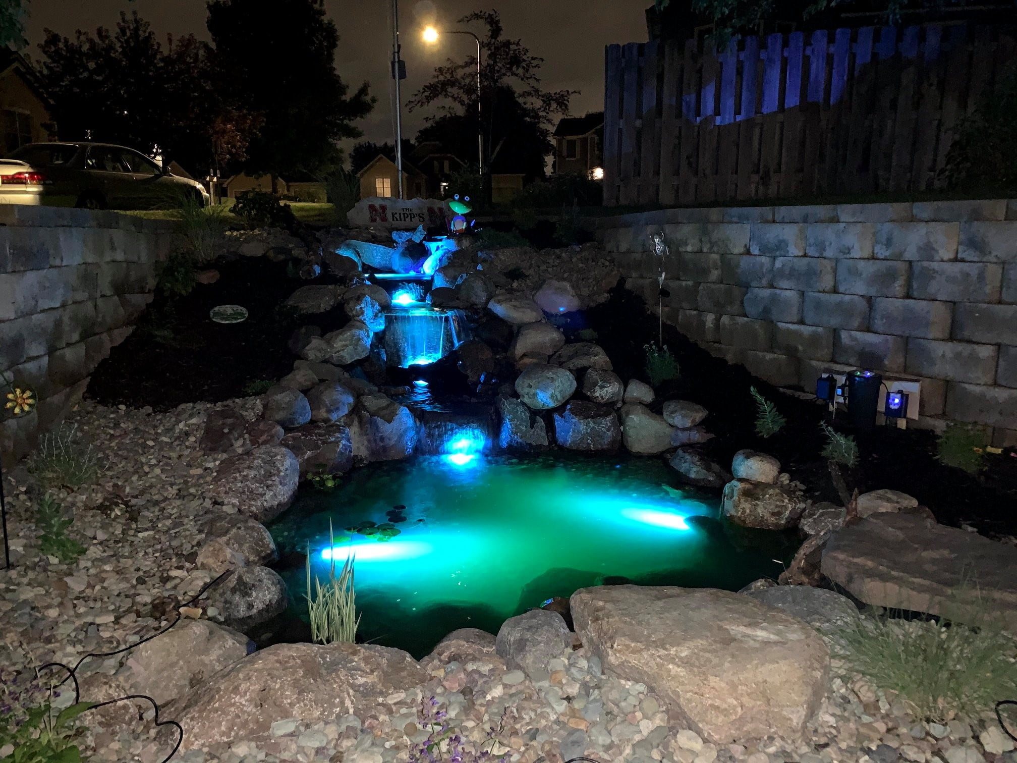 Color water feature lights Omaha NE