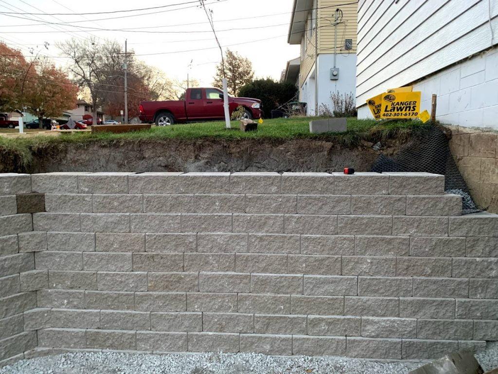 Larger retaining wall Papillion Nebraska