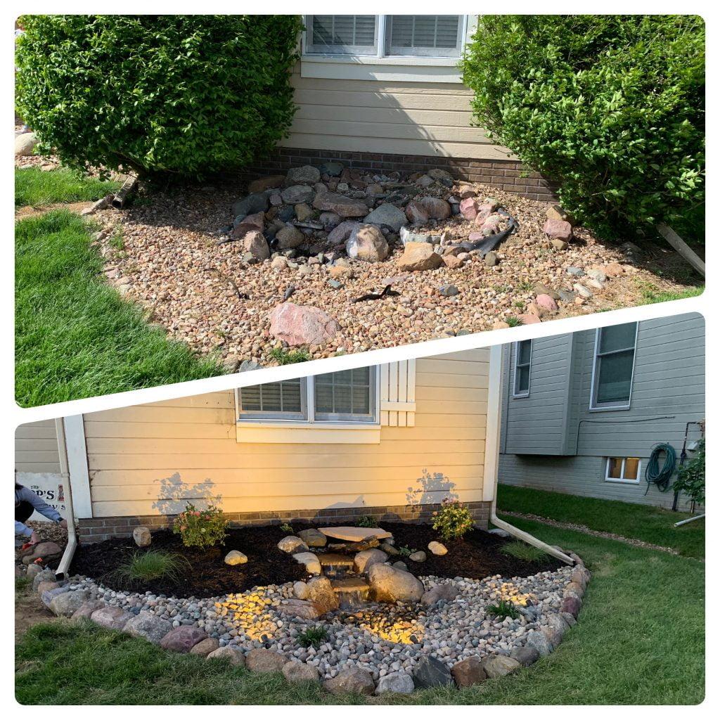 Front yard landscaping Papillion Nebraska