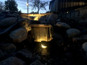 Water feature lights Omaha Nebraska