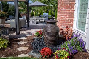 Rippled Urn outdoor decorative fountain Omaha Nebraska