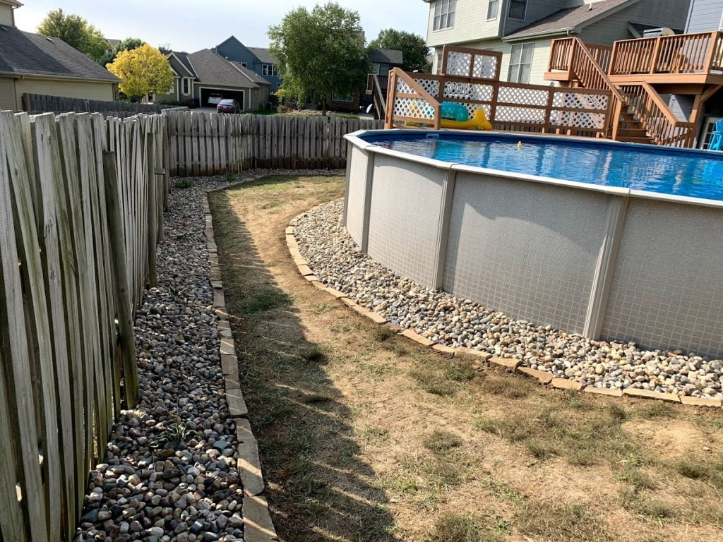 Pool landscaping Papillion Nebraska
