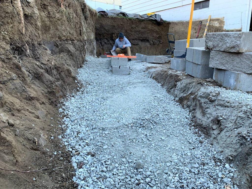 Retaining wall base Papillion Nebraska