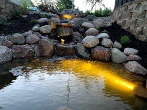 Koi Pond water feature Omaha Nebraska